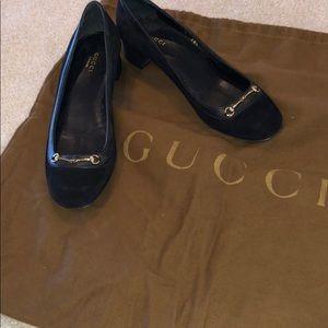 Authentic Black Gucci shoes